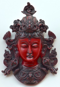 I thought this was Shiva at first, but then Anil told me it is actually a female form of Buddha