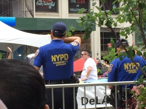 We were only at the Pride parade briefly, but we spotted Lea DeLaria from Orange is the New Black