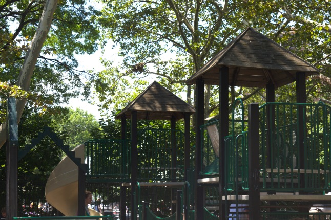 A classic playground structure – the jungle gym.