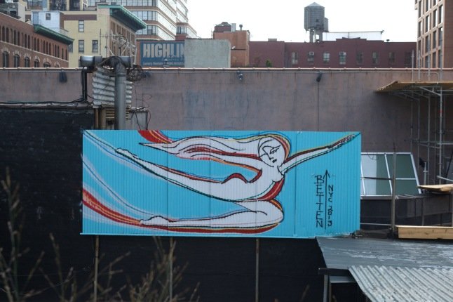 Some of the artwork that can be seen along the High Line isn't actually part of the High Line itself.