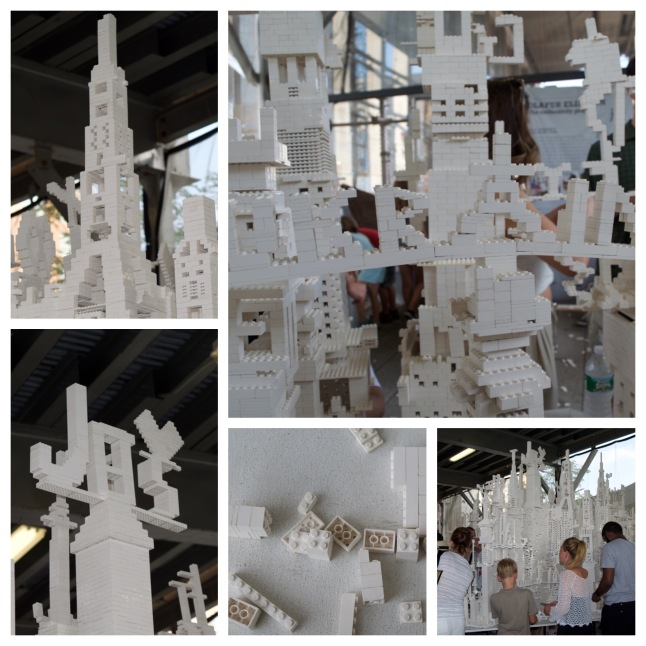 The Collectivity Project by Olaf Eliasson is one of the coolest installations. It's a community-generated lego-building frenzy. It's always changing, but when I went I saw intricate towers, a tribute to the Ukraine, a profession of love, and much more. Anyone can add to it, so if you come here be sure to stop by and leave your mark!
